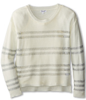 Splendid Littles - Long Sleeve Silver Lurex Stripe Sweater (Big Kids)