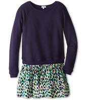 Splendid Littles - Leopard Mix L/S Dress (Big Kids)
