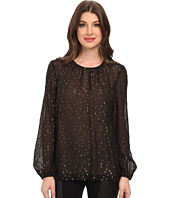 BCBGMAXAZRIA - Martina Rouched Neck Blouse