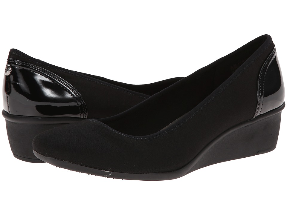 Anne Klein Wisher (Black Fabric) Women's Shoes