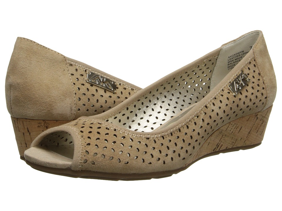 Anne Klein Cadwyn (Natural Nubuck) Women's Wedge Shoes