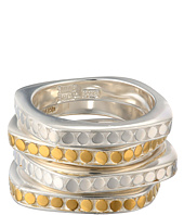 Anna Beck - Set of 4 Multi-Disk Stackable Rings