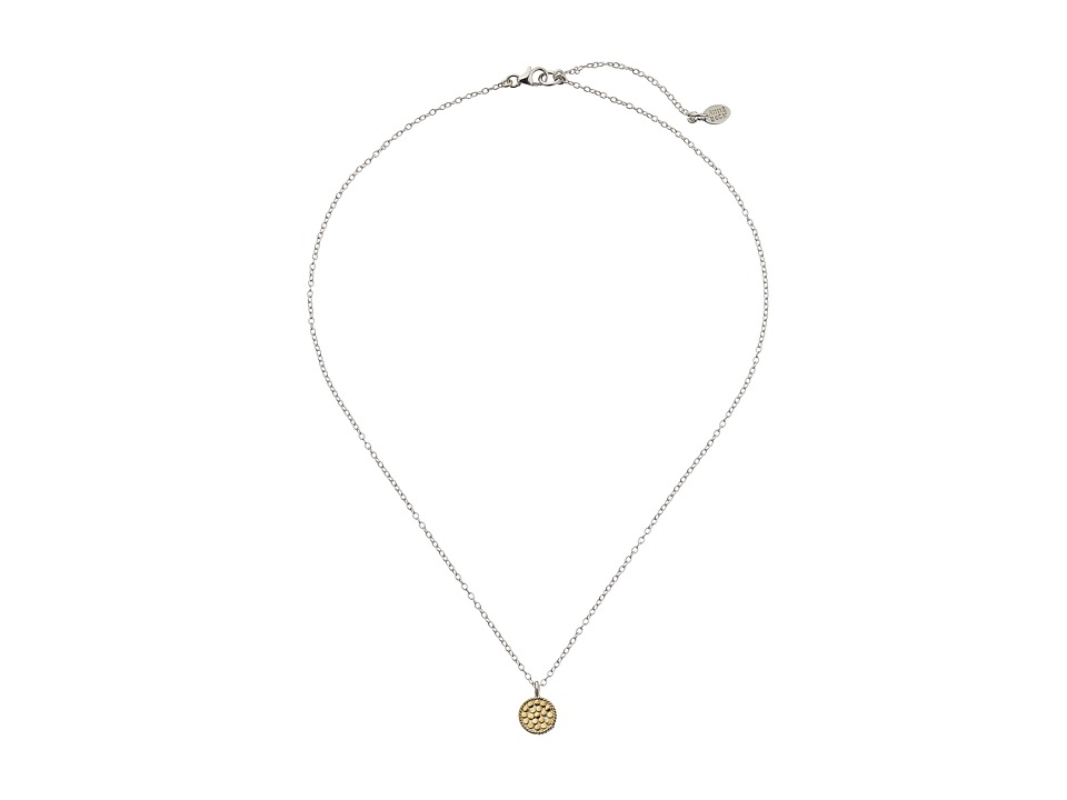 Anna Beck Mini Floating O Necklace w/ 16 18 Chain Sterling Silver w/ 18K Gold Vermeil Necklace