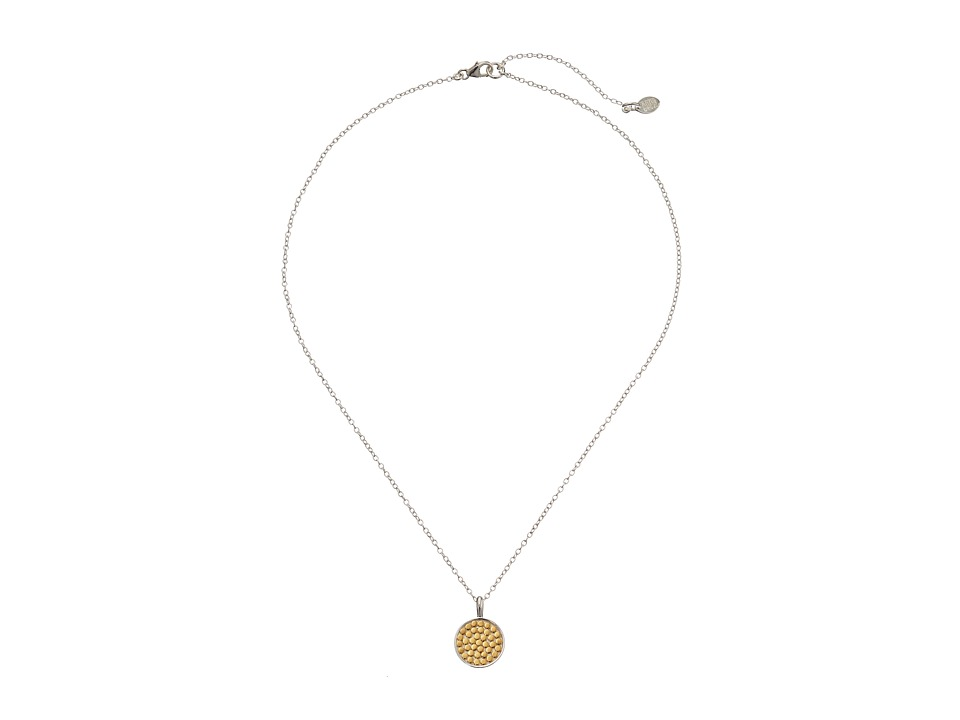 Anna Beck Reversible Charity Necklace w/ 16 18 Chain Sterling Silver w/ 18K Gold Vermeil Necklace