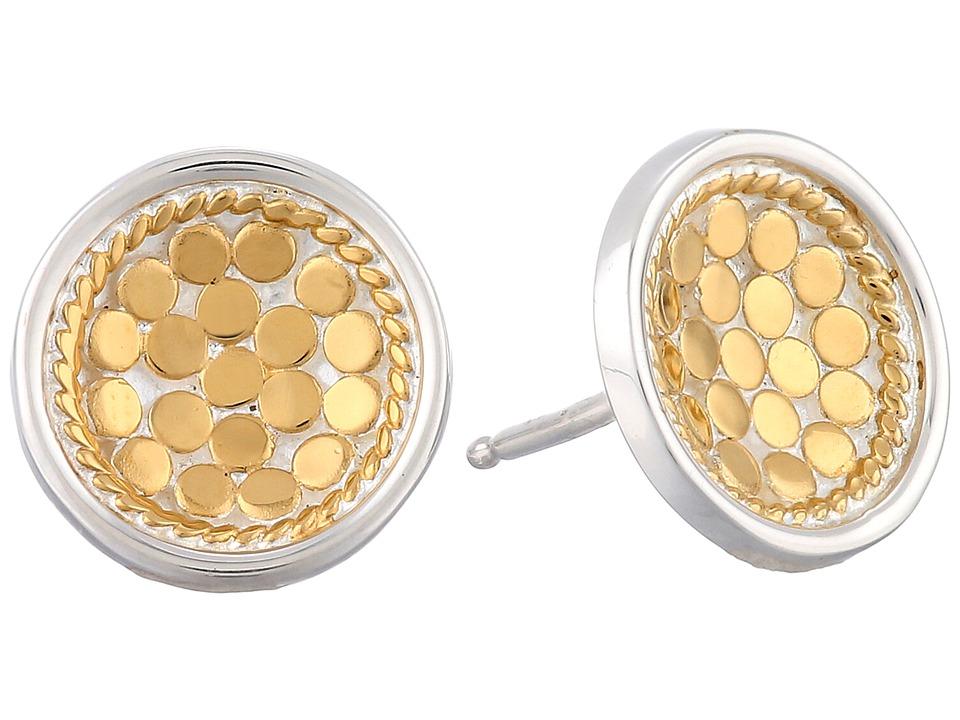 Anna Beck Dish Earrings w/ Post Sterling Silver w/ 18K Gold Vermeil Earring