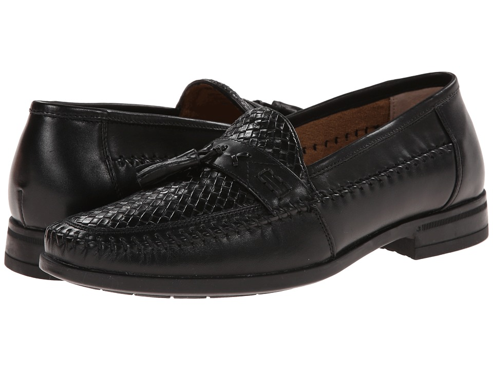Nunn Bush Strafford Woven Moc Toe Slip-On (Black) Men