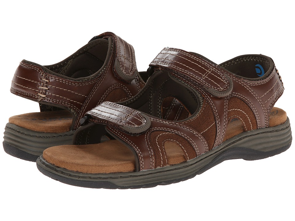 Nunn Bush - Randall Two-Strap Sandal (Cognac) Men