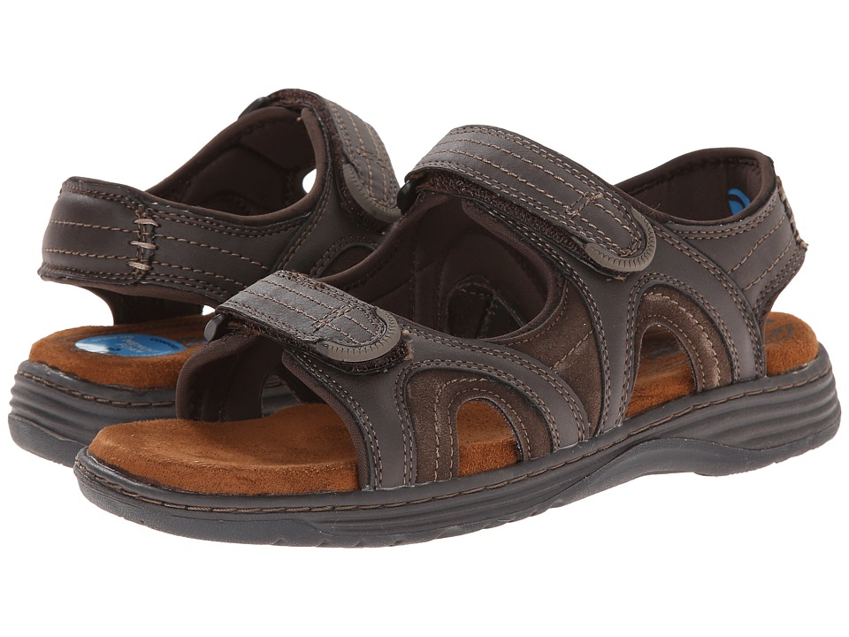 Nunn Bush Randall Two-Strap Sandal (Brown CH) Men