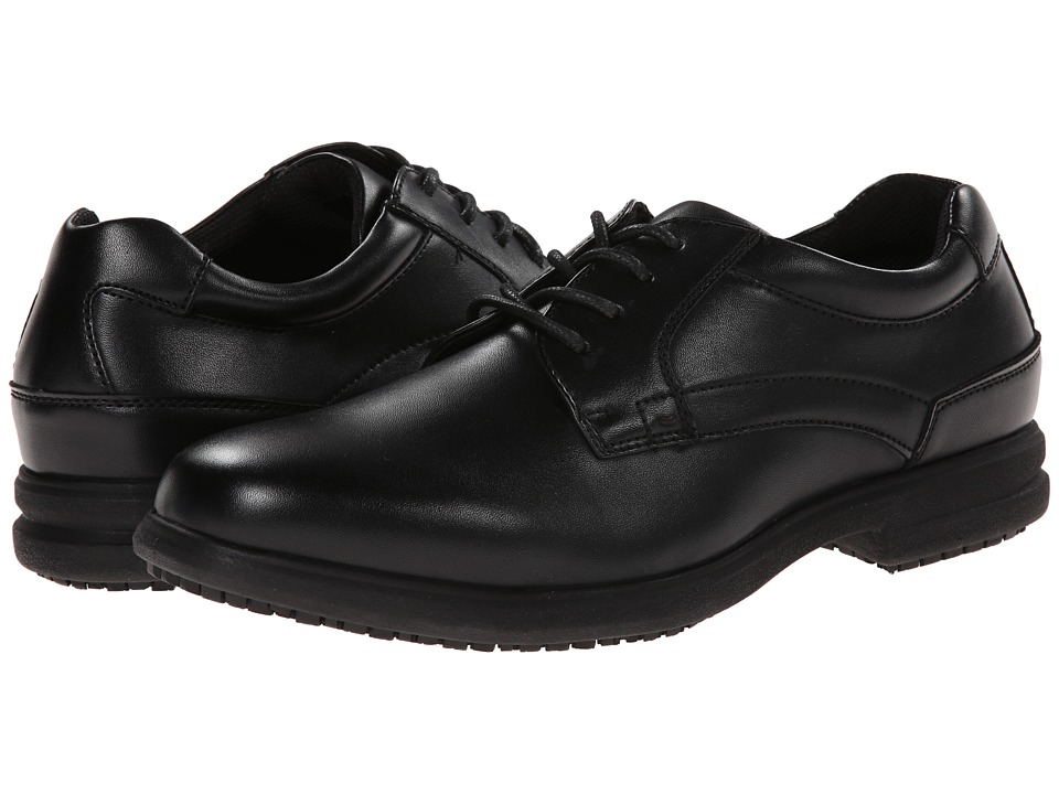Nunn Bush - Sherman Slip Resistant Plain Toe Oxford (Black) Mens Lace up casual Shoes