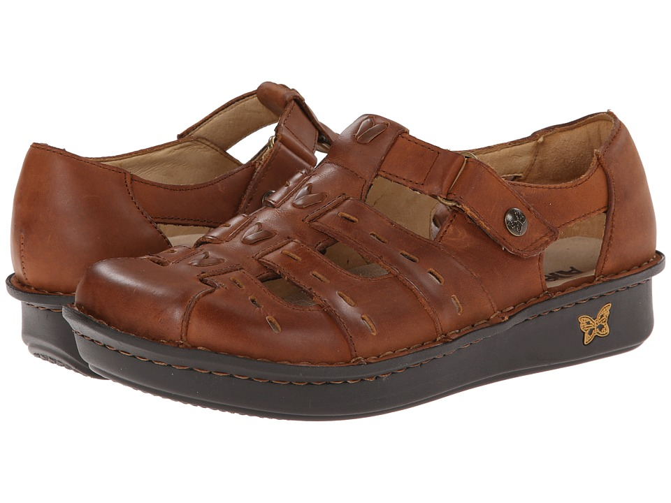 Alegria Pesca (Tawny) Women's Hook and Loop Shoes