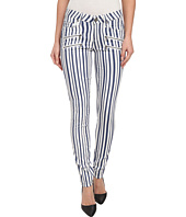 Paige - Edgemont Ultra Skinny in White/Navy Cyprus Stripe