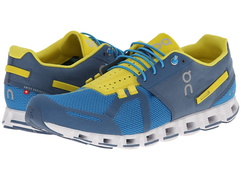On Cloud Blues/Yellow Mens Running Shoes