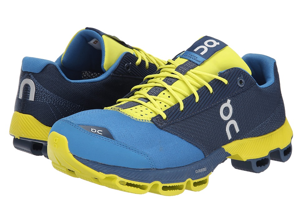 On Cloudster Denim/Lime Mens Running Shoes