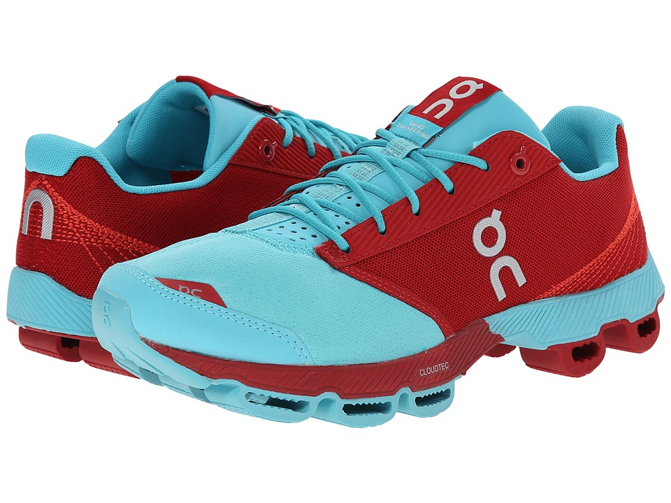 On - Cloudster (Chili/Curacao) Womens Running Shoes