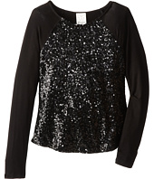 Ella Moss Girl - Renee Sequin L/S Top (Big Kids)