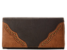 American West Castle Rock Flap Wallet (Chocolate/Tan)