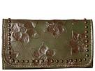 American West Flower Child Ladies Tri-Fold Wallet (Olive Green)