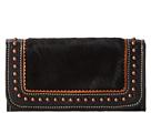 American West Tulsa Twilight Ladies Tri-Fold Wallet (Black/Black Hair)