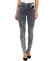 dollhouse - High Rise Exposed Button Acid Skinny Jean in Noise Wash