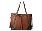 American West Jackson Hole Large Shopper Tote (Tan/Embossed Brown)