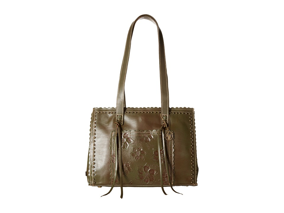 American West - Flower Child Large Shopper Tote (Olive Green) Tote Handbags