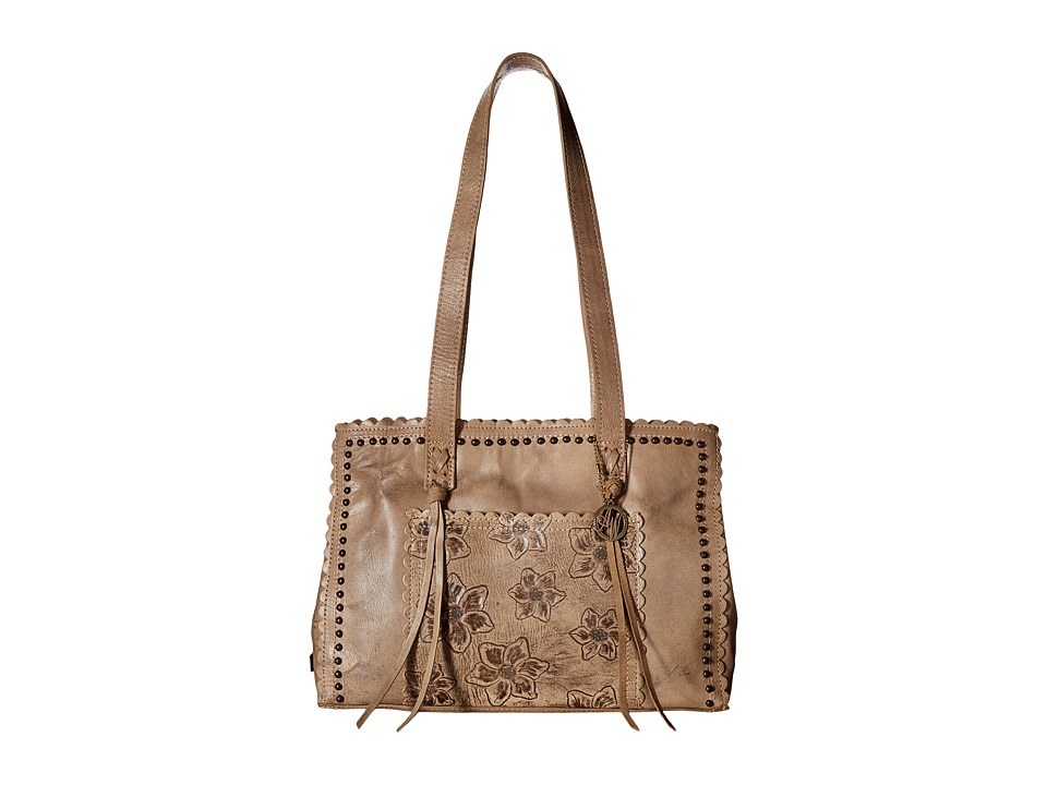 American West - Flower Child Large Shopper Tote (Stone) Tote Handbags