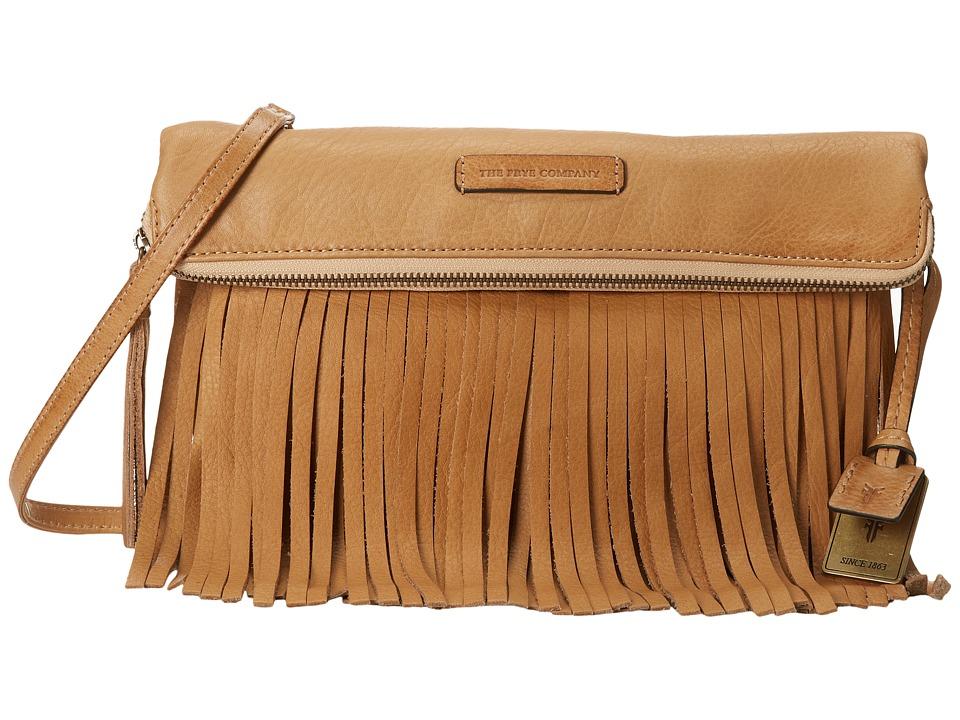 Frye - Heidi Fringe Crossbody (Beige Soft Vintage Leather) Cross Body Handbags