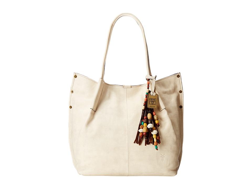Frye - Hillary Tote (Off White Tumbled Full Grain) Tote Handbags