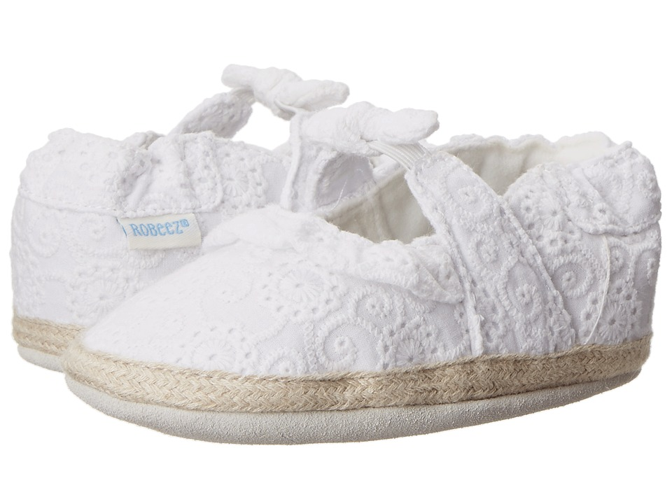 Robeez - Sunshine Espadrille Soft Soles (Infant/Toddler) (White) Girls Shoes