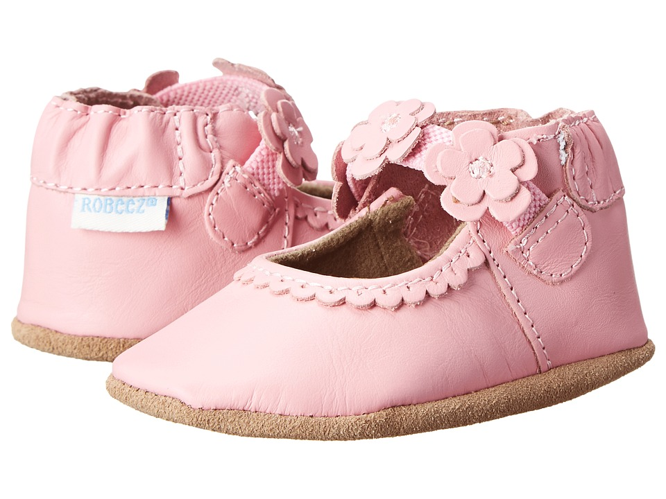 Robeez - Claire Mary Jane Soft Soles (Infant/Toddler) (Prism Pink) Girls Shoes