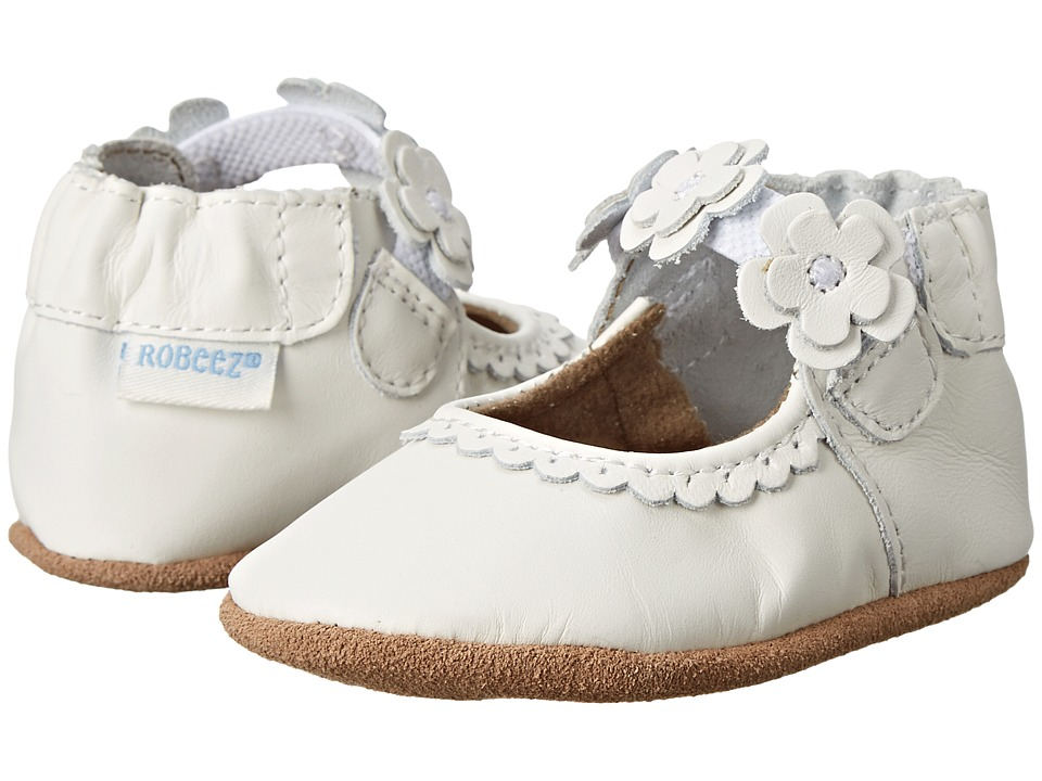 Robeez - Claire Mary Jane Soft Soles (Infant/Todler) (White) Girls Shoes