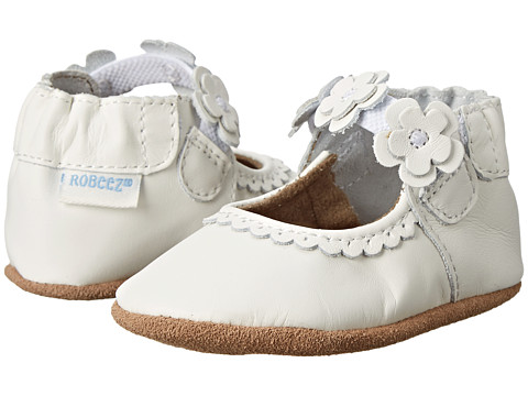 Robeez Claire Mary Jane Soft Soles (Infant/Todler) - White