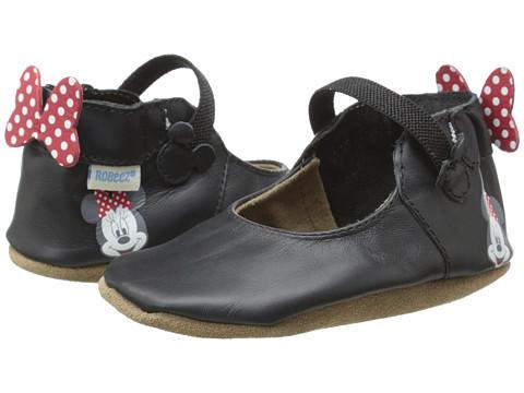 Robeez Minnie™ Mary Jane Soft Soles (Infant/Toddler) - Black