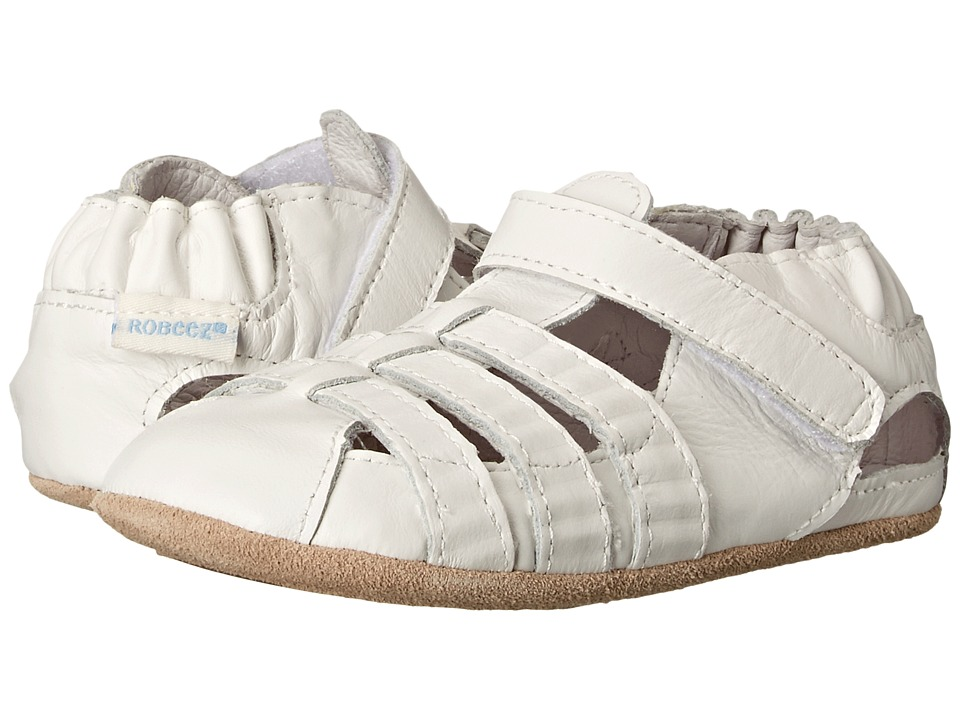 Robeez - Paris (Infant/Toddler) (White) Girls Shoes