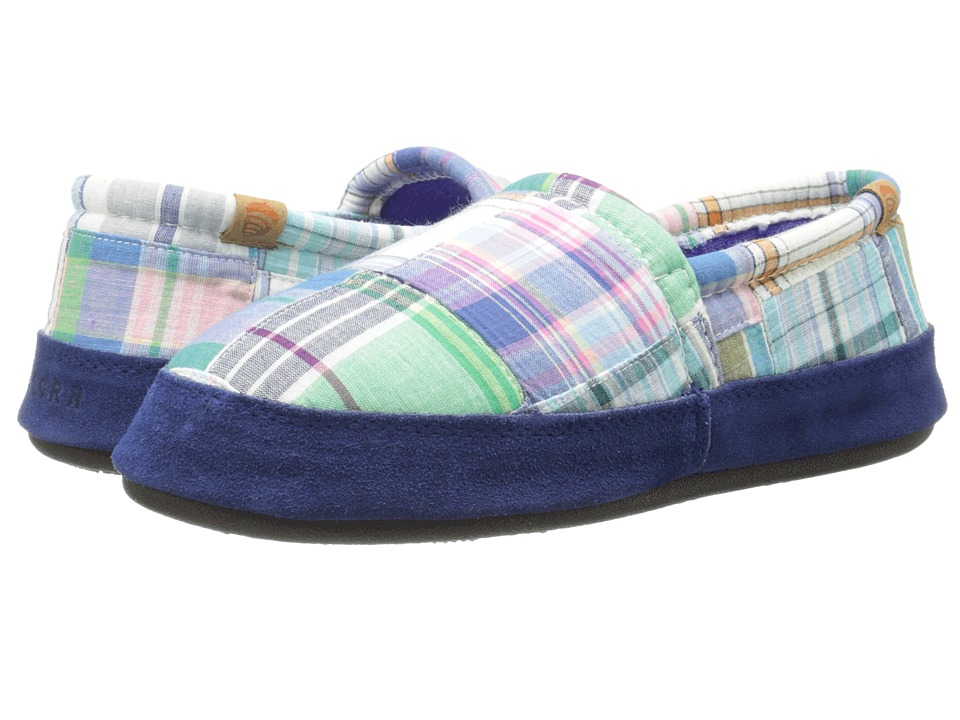 Acorn Acorn Moc Summerweight Blue Madras Womens Slippers