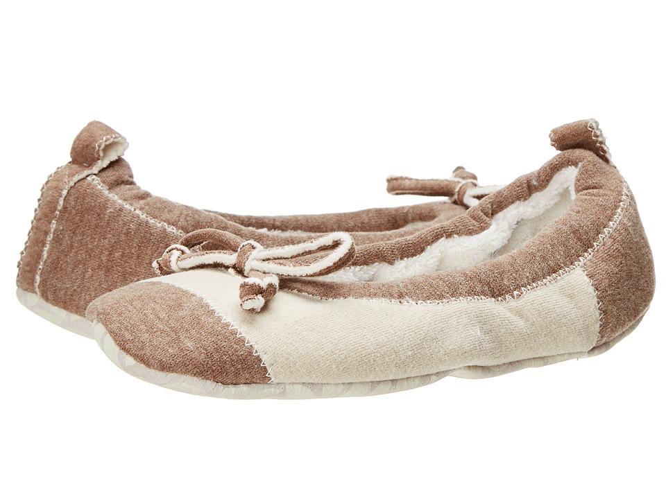 Acorn Easy Spa Ballet Latte Jersey Womens Flat Shoes