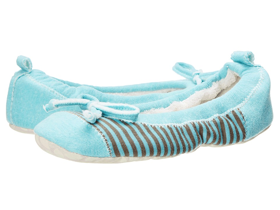 Acorn Easy Spa Ballet Seafoam Stripe Womens Flat Shoes