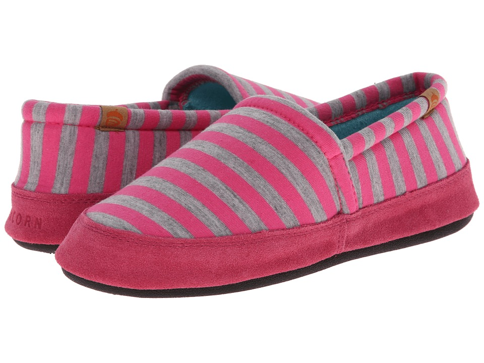 Acorn Acorn Moc Summerweight Pink Stripe Womens Slippers