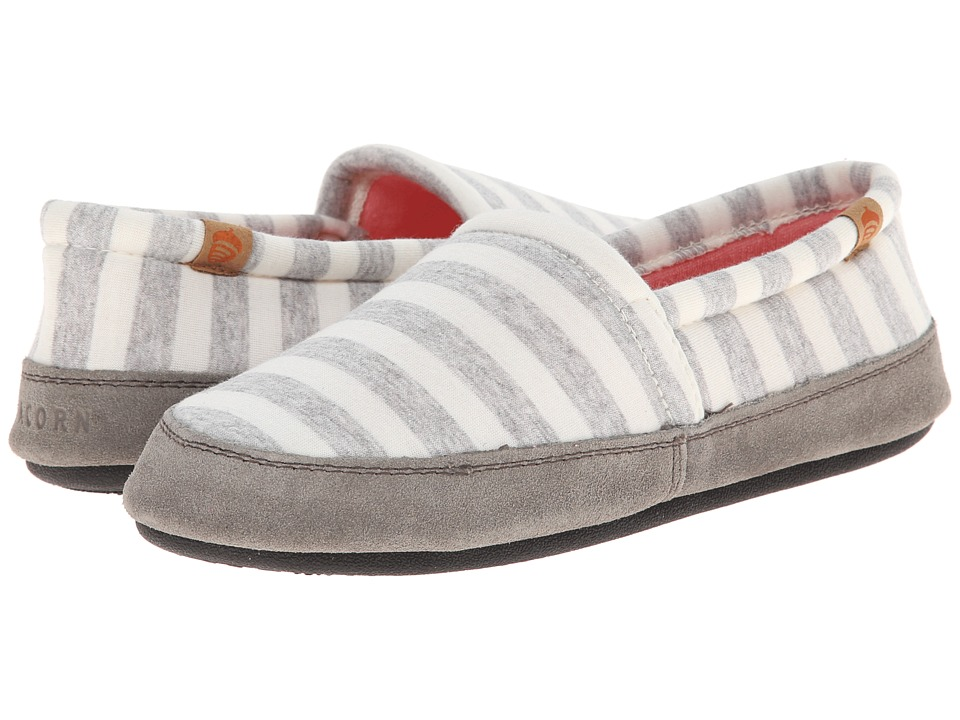 Acorn Acorn Moc Summerweight (White Stripe) Women