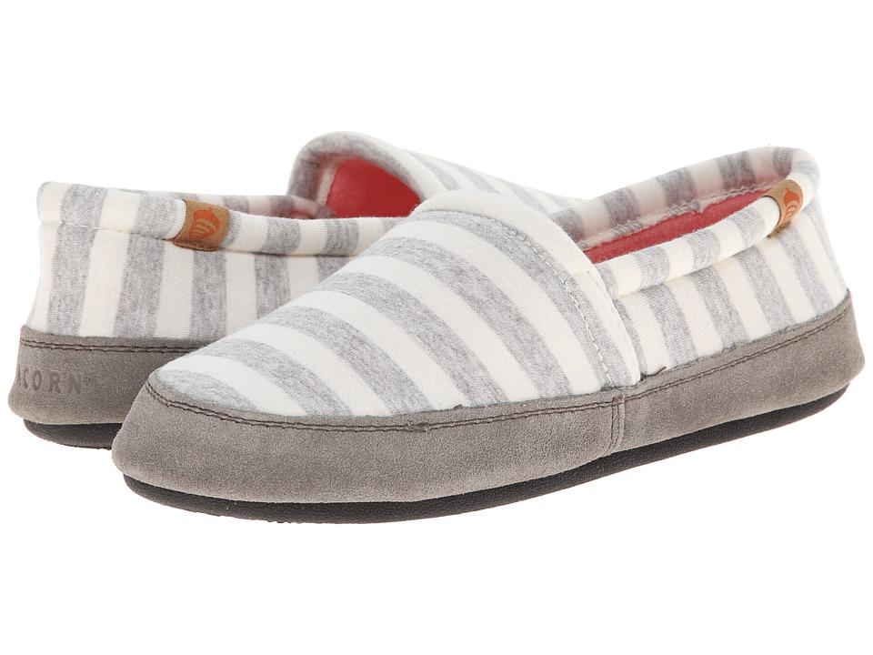 Acorn Acorn Moc Summerweight (White Stripe) Slippers