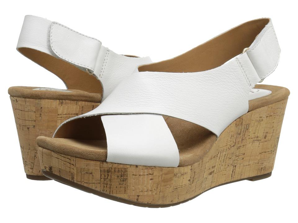 Clarks - Caslynn Shae (White Leather) Women