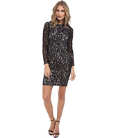 Vince Camuto - Long Sleeve Lace Dress w/ Panels & Nude Lining