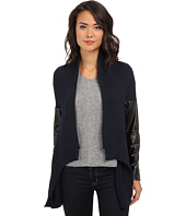 Aryn K - L/S Cardi w/ Leather Trim