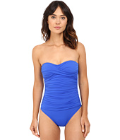 La Blanca - Core Solid Bandeau One Piece w/ Foam Cups & Removable Straps
