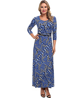 Calvin Klein - Matte Jersey Printed Maxi Dress
