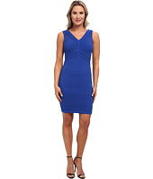 Calvin Klein - V-Neck Cocktail Dress w/ Tucking