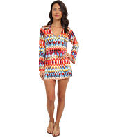 La Blanca - Serengeti L/S V-Neck Tunic Cover-Up