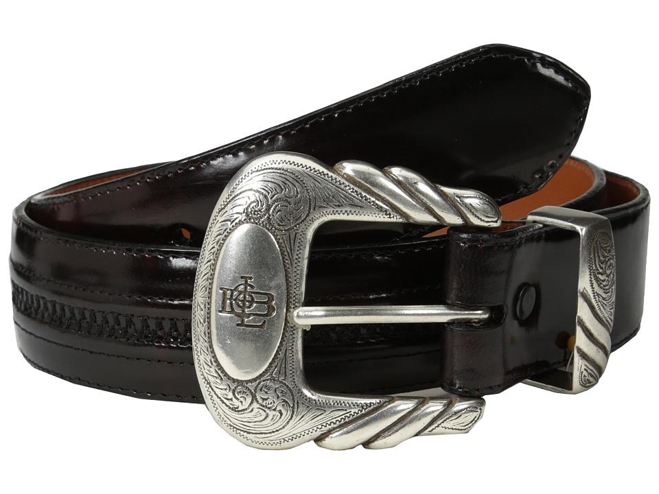 Lucchese - W2211H (Black Cherry Goat) Mens Belts