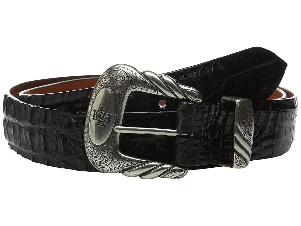 Lucchese - W9321 (Black Hornback Caiman) Mens Belts