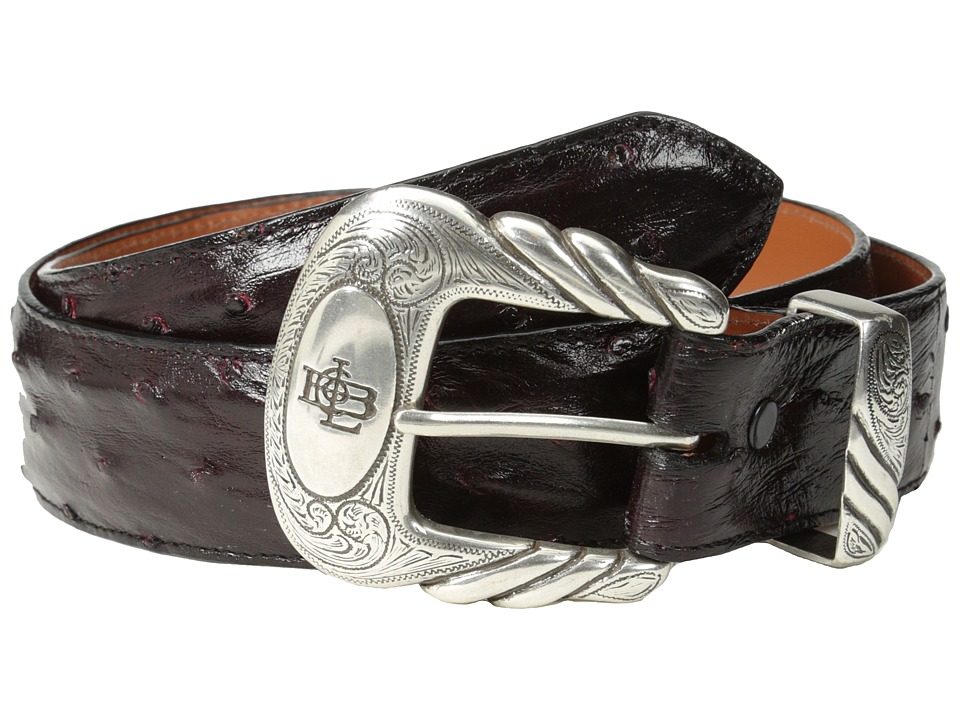 Lucchese - W6021 (Black Cherry Full Quill Ostrich) Mens Belts